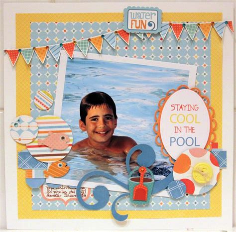 scrapbook layout generator staying cool in the pool scrapbook com favorite