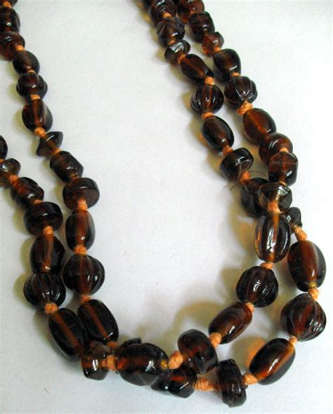 brown bead necklace brown glass bead necklace www carterscollectablesuk co uk
