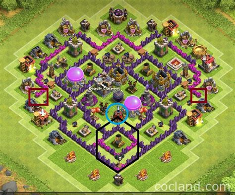 clash of clans strategy level 7 farming base design town hall town hall 7 base layout farming www pixshark com