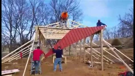 build  small pole barn youtube
