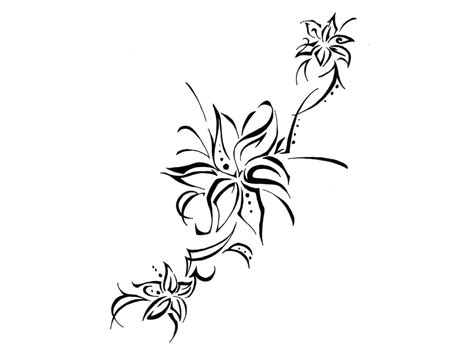 free tribal flower tattoo designs download free clip art