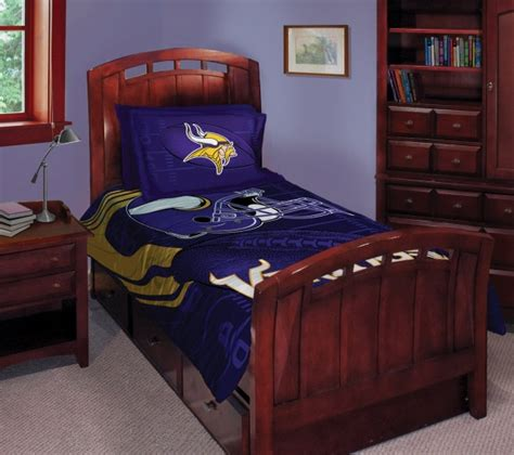 Viking Bedroom Decor by Minnesota Vikings Nfl Comforter Set 63 Quot X 86 Quot