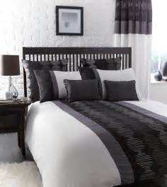 gray black and white bedroom black white pewter grey striped bed linen duvet cover