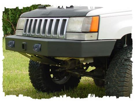 98 Jeep Towing Capacity Zj 93 98 Front Bump W Recv Wd Ring Tow Bar Mnts Tomken