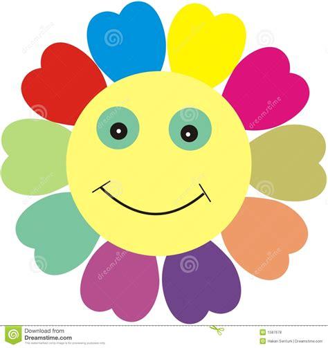 clipart fiore fiore sorridente illustrazione vettoriale illustrazione