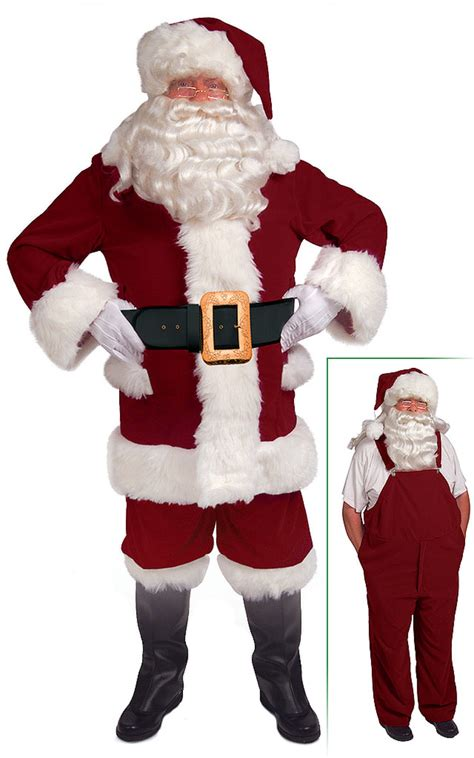 burgundy bib overalls santa suit santa supply online