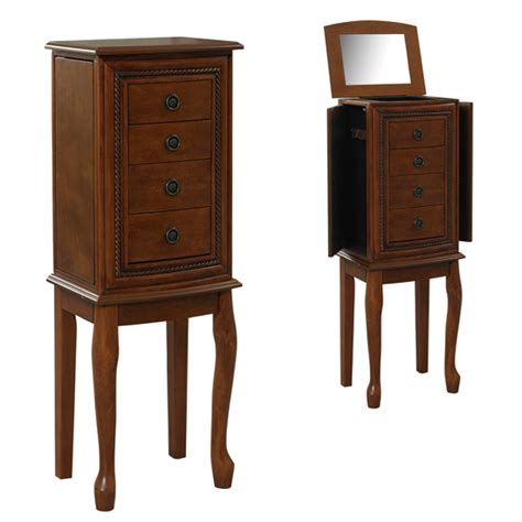 vanity jewelry armoire linon jewelry armoires and vanity sets