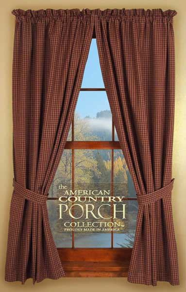 The Country Porch Curtains Roxbury Tieback Curtain Panels