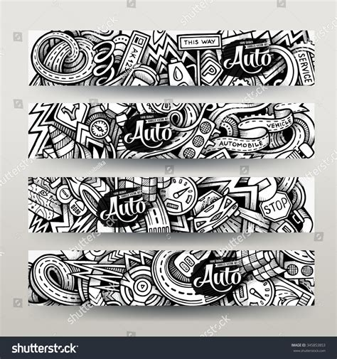 doodle graphic design services graphics vector handdrawn sketchy trace automotive stock