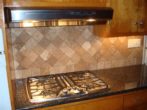 Tumbled Travertine Backsplash On Diagonal New Jersey Backsplash Designs Travertine