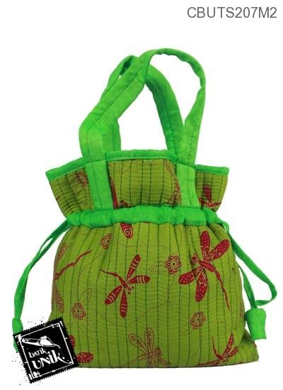 Tas Katun Motif 1 tas serut katun motif kotemporer capung tas wanita murah batikunik