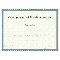 Free Templates For Certificates Of Participation by Exle Image Certificate Of Participation