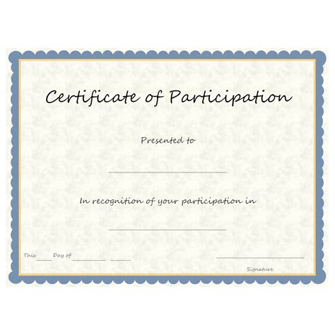 free certificate of participation template exle image certificate of participation
