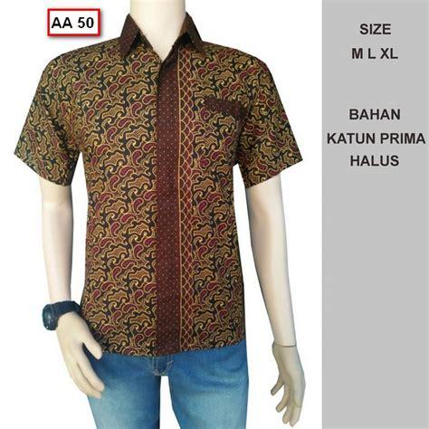 Murah Baju Batik Baju Kemeja Pria Batik Muslim Pria Batik gambar model baju batik pria yang cocok untuk acara pesta