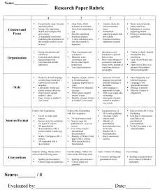 Social Science Research Paper Rubric by Research Paper 5th Grade Rubric