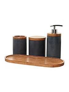 Timber Bathroom Accessories Casa Couture Soapstone And Wood Bathroom Accessories House Of Fraser