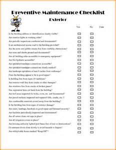 Apartment Maintenance Inspection Checklist 11 Apartment Building Maintenance Checklist Ledger Paper