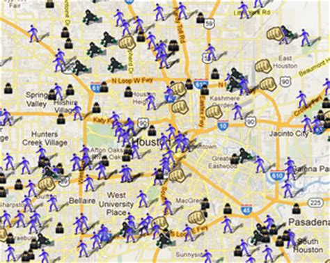 houston crime heat map houston tx crime map indiana map