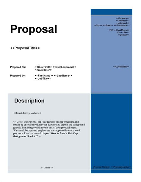 Design Proposal Title | proposal pack for any business software templates sles