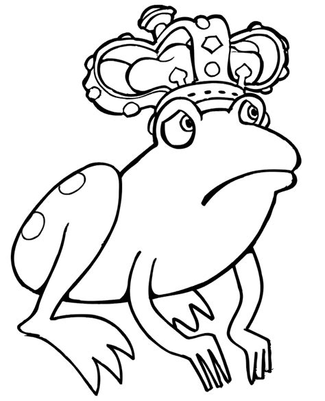 frog coloring page pdf frog coloring page worried frog wearing a crown az