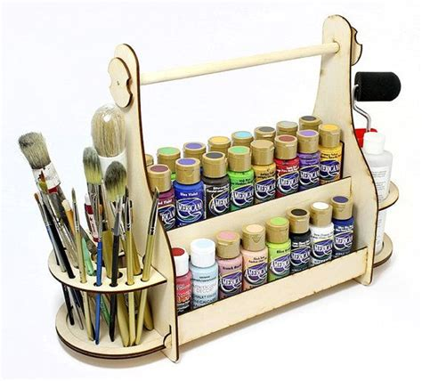diy craft paint storage craft paint storage organizer plywood caddy painting