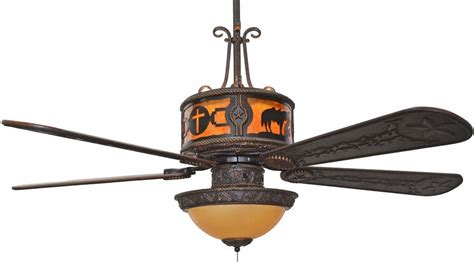 Cc Kvshr Brz Pcc Lk420 Praying Cowboy Cross Western Ceiling Fans