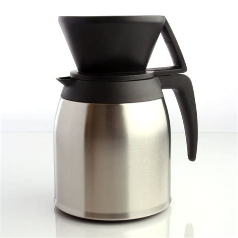 Melitta 10 Cup Stainless Steel Pour Over Brewer with Stainless Steel Insulated Carafe
