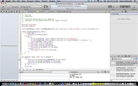 tutorial xcode java c xcode oop exceptions primer tutorial robert metcalfe