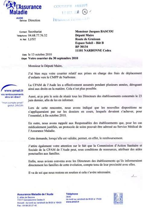 Modeles De Lettre Cpam Dossier Transport Vers Le Cmpp Aderep