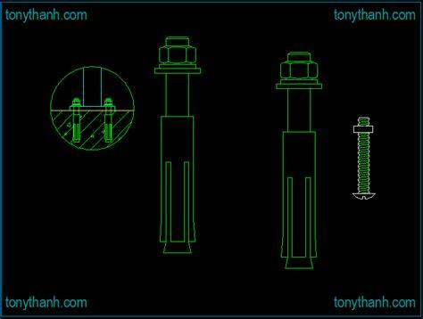 bolt detail drawing expansion bolt cad block dwg drawing semi circular bolt