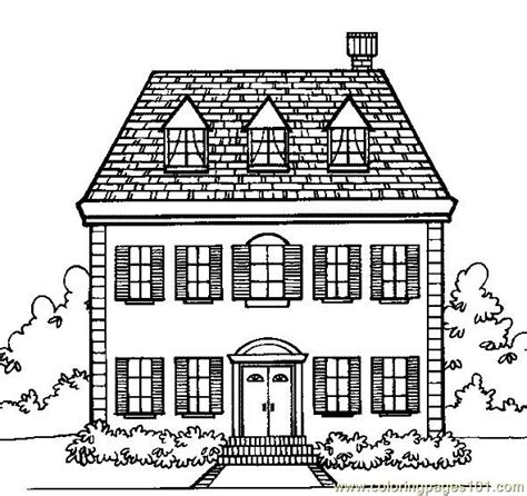 cottage house coloring page coloring pages cottage home architecture gt houses free