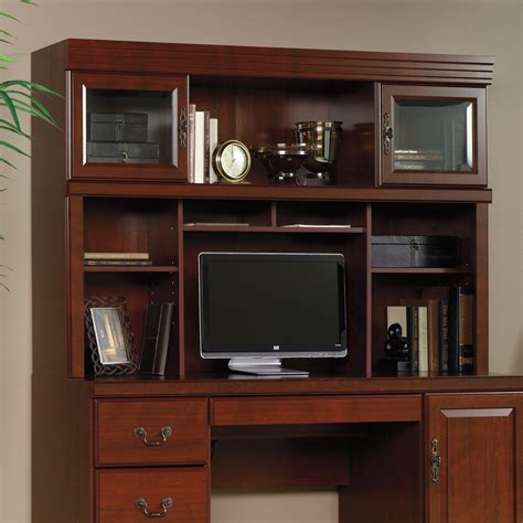 sauder computer desk with hutch heritage hill hutch 404975 sauder