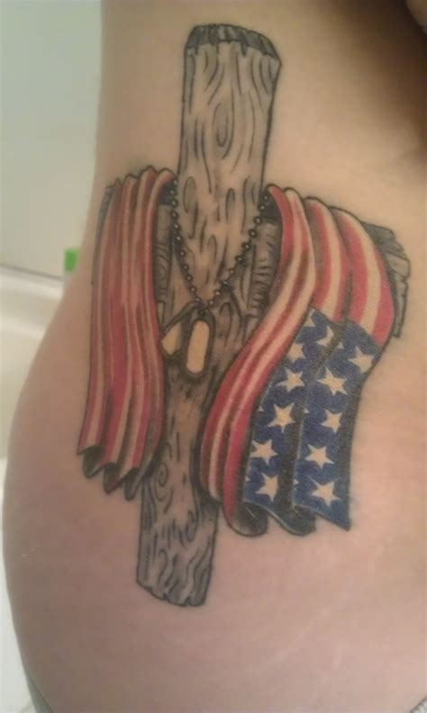 cross and flag tattoo american army patriotic tattooimages biz