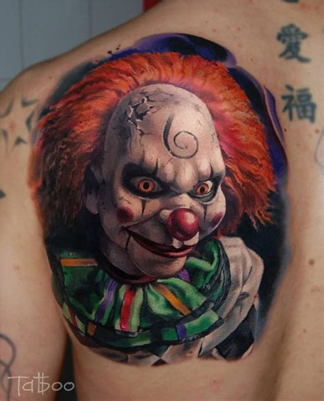 spooky tattoo designs scary clown best design ideas