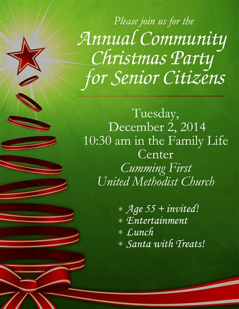community christmas party for senior citizens cumming