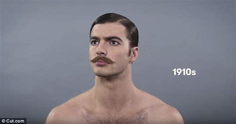 100 year old hairstyle video sees model charting evolution of male beauty trends
