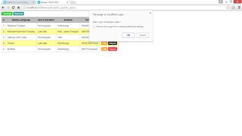 tutorial php dan jquery membuat edit hapus data dengan php pdo jquery ajax