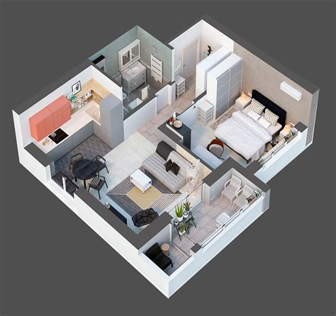 50 square meter 4 small apartment designs under 50 square meters