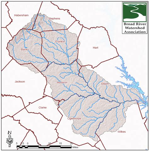 broad river map about the broad river
