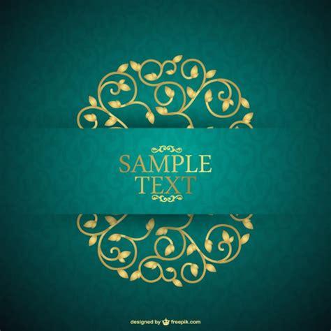 Pliko Creative Clasic Orange Green Blue fondo de tarjeta floral de estilo retro descargar