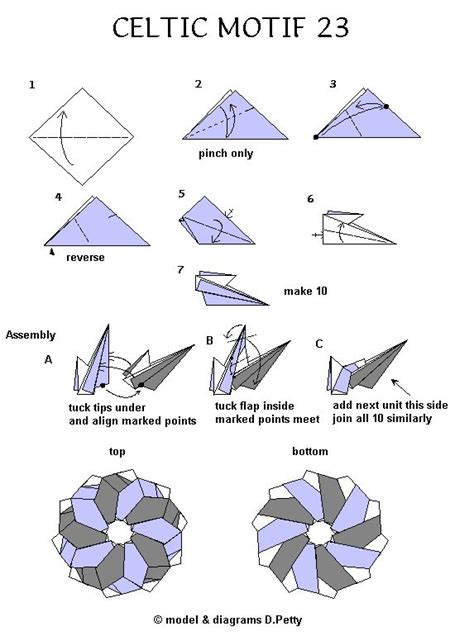 Origami Magic Diagram - 264 best images about origami estrellas on
