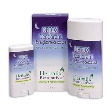 How Does It Take To Detox From Deodorant by Herbalix Restoratives Nighttime Detox Cleansing Deodorant