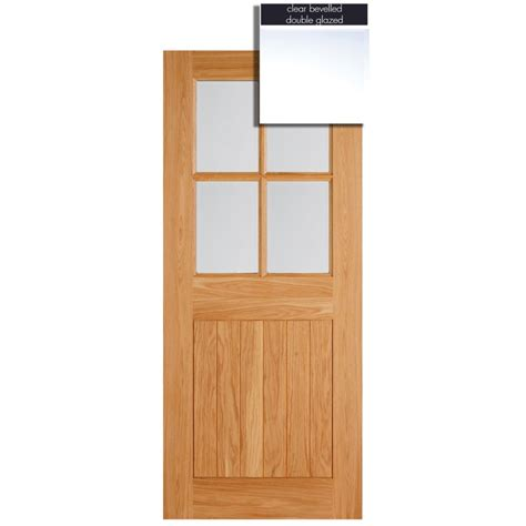 Doors Light by Lpd Adoorable Oak Cottage 4 Light Glazed Exterior
