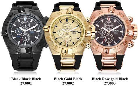 Skmei Jam Tangan Kasual Pria 9117cl Black Gold 62nxnb shhors jam tangan analog kasual pria 2730 black gold