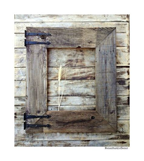 handmade reclaimed barn wood frame for mirror large