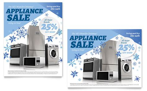 Kitchen Appliance Sale Poster Template Design