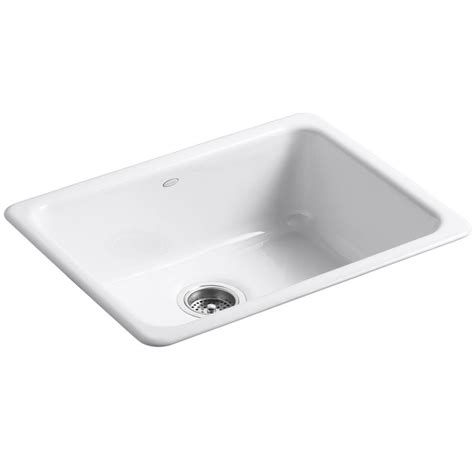 cast iron kitchen sinks kohler iron tones cast iron kitchen sink 6585