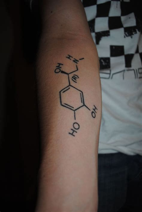 adrenaline tattoo chemical compound for adrenaline the o