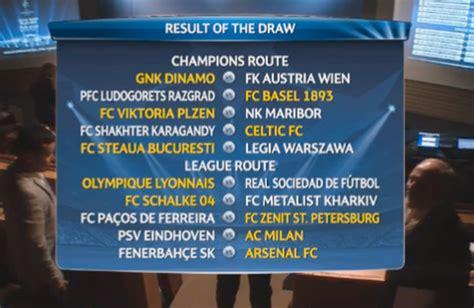 Flaring Ac Zenit uefa chions league 2013 14 play draw genius