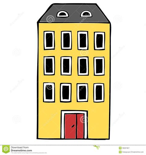 House Building Plans With Prices by Apartment Block Stock Illustration Illustration Of